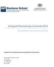 Giving and Volunteering in Australia cover image