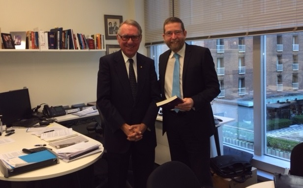 David Gonski engages with the Prime Minister's Community Business Partnership