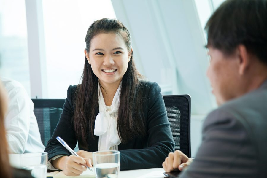 Picture of a woman in a business meeting