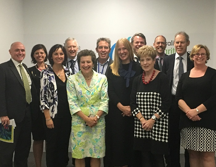 Partnership members meeting with the ACNC Commissioners on 12 April 2016.