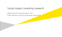 Social Impact Investing research