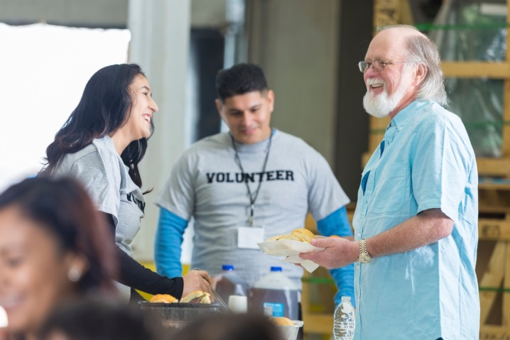 Photo of smiling volunteers