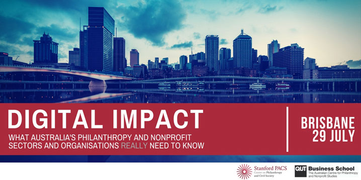 Promotional image for the Digital Impact workshop in Brisbane on 29 July 2017