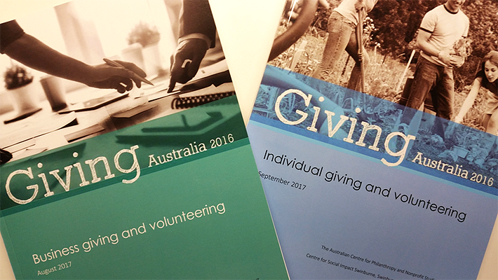 Giving Australia 2016: New findings released on business and individual giving and volunteering