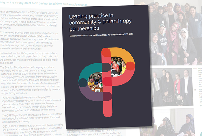 Leading practice in community & philanthropy partnerships